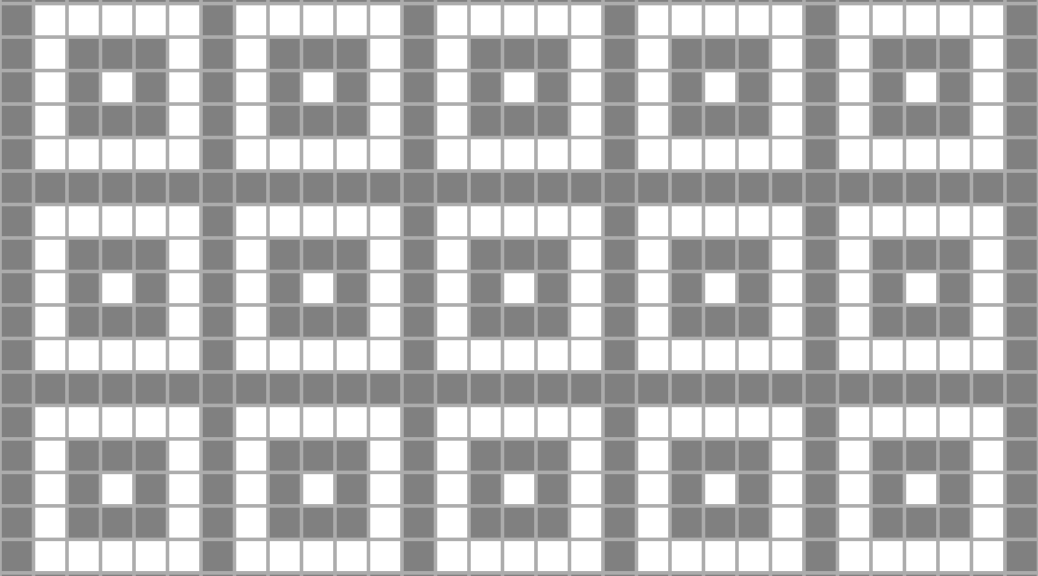 illustration of Boxes (concentric squares) as an allover design
