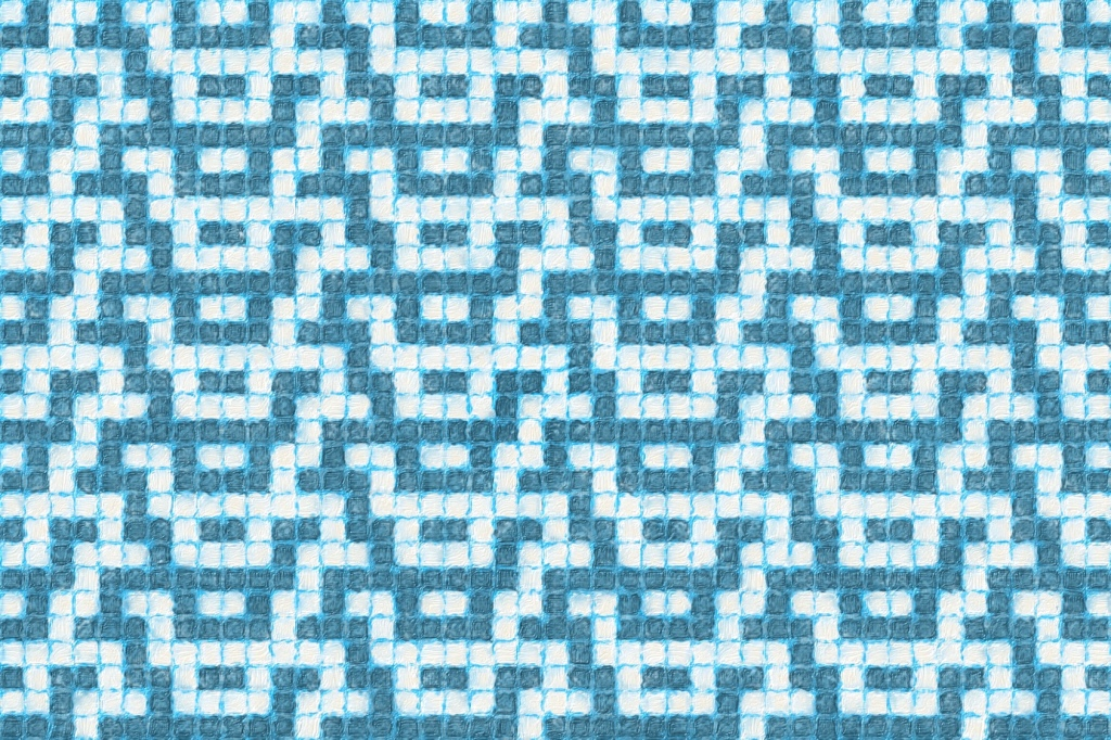 Image showing the way 'how' mosaic knitting might look as an allover design