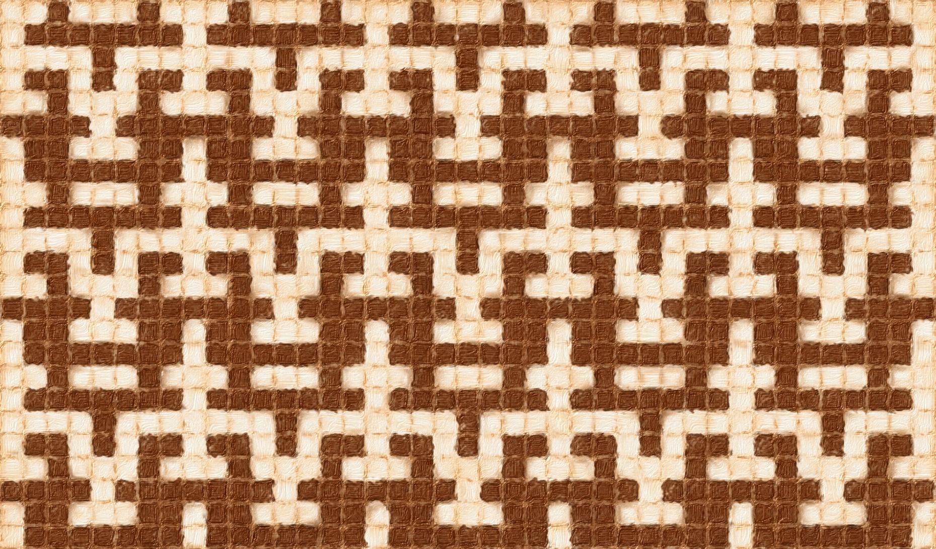 Verve mosaic knitting chart as an allover pattern