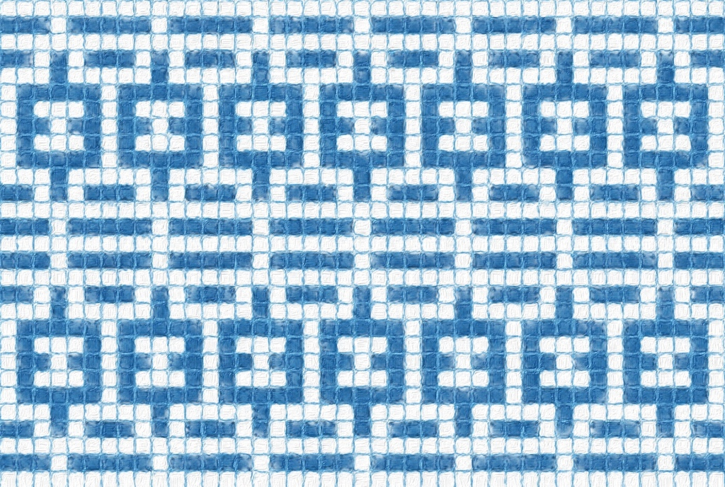 How Brim mosaic might look as an allover design.