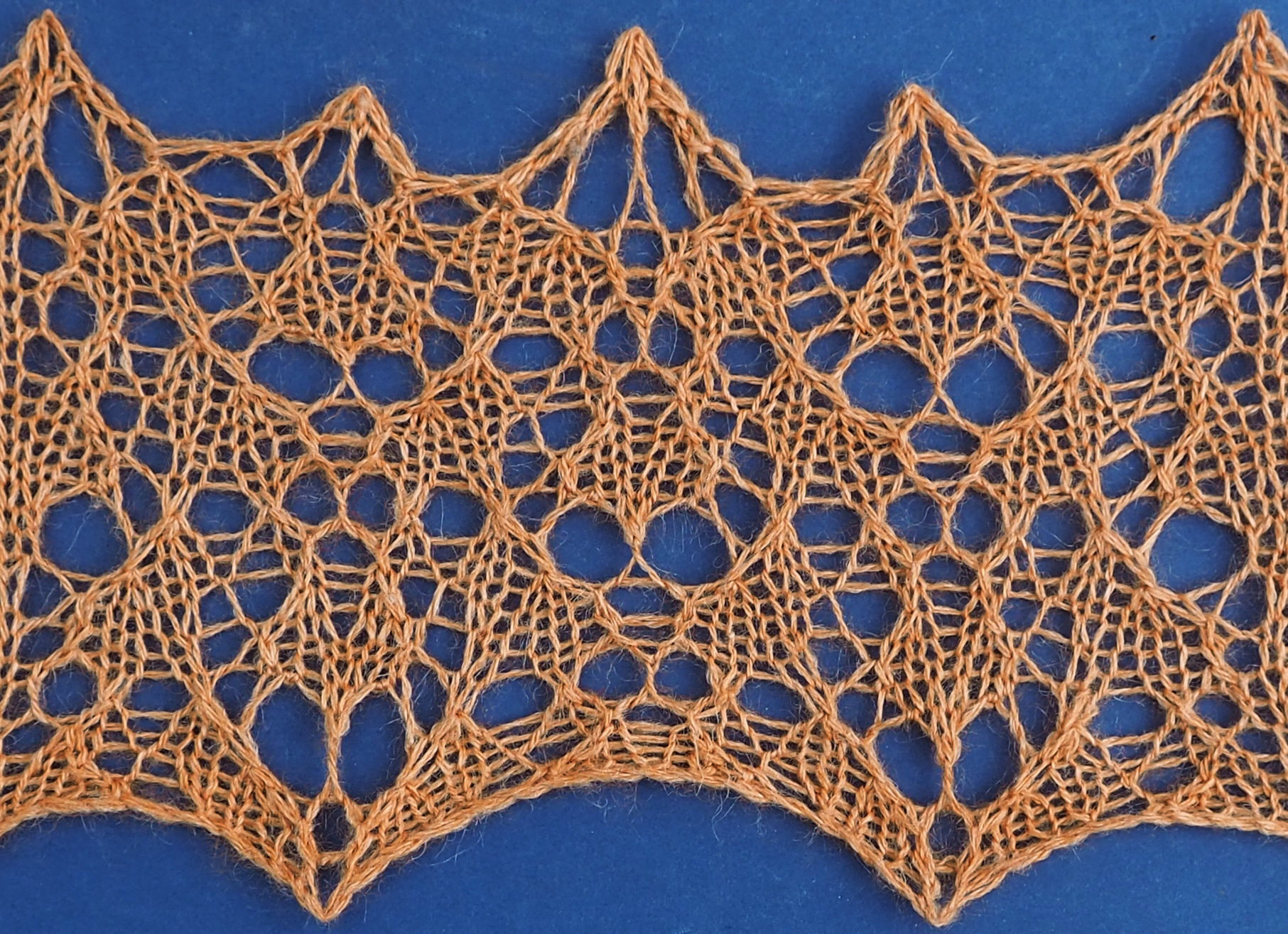 knitted sample of Sheep lace