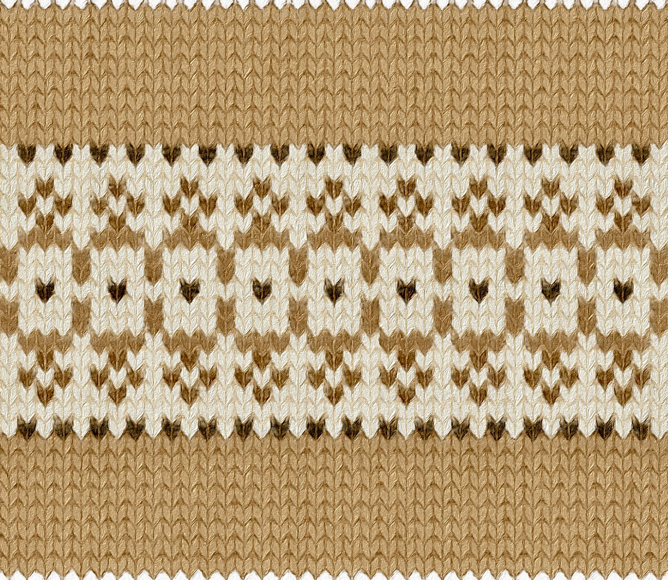 depiction of Sheep needlework chart as a stranded knitting border